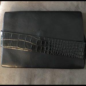 Zara faux leather clutch with crocodile print